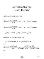 decision analysis bayes theorem