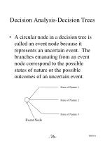 decision analysis decision trees3