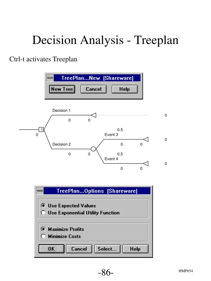 Decision Analysis - Treeplan