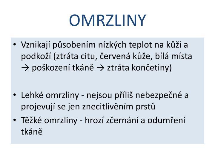 OMRZLINY