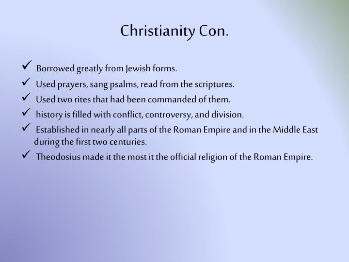 Christianity Con.