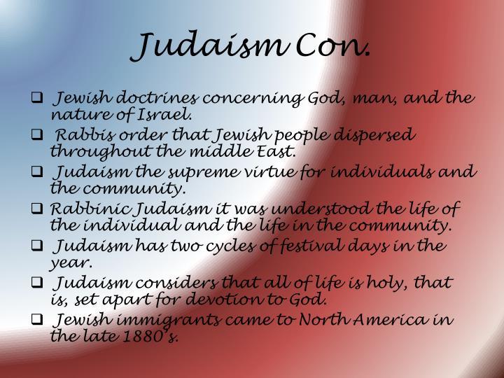 Judaism Con.