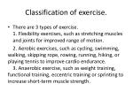 classification of exercise