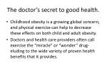 the doctor s secret to good health