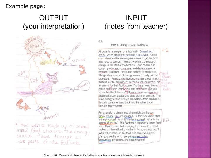 Example page: