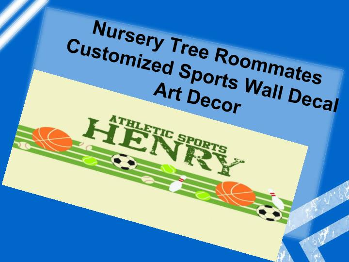 Nursery tree roommates customized sports wall decal art decor