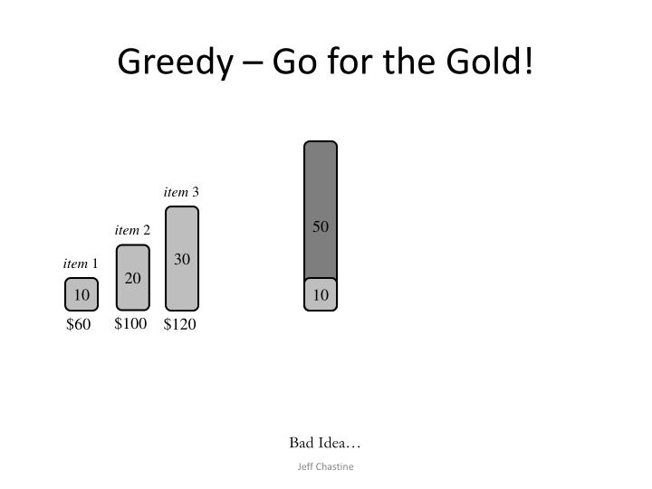 Greedy – Go for the Gold!