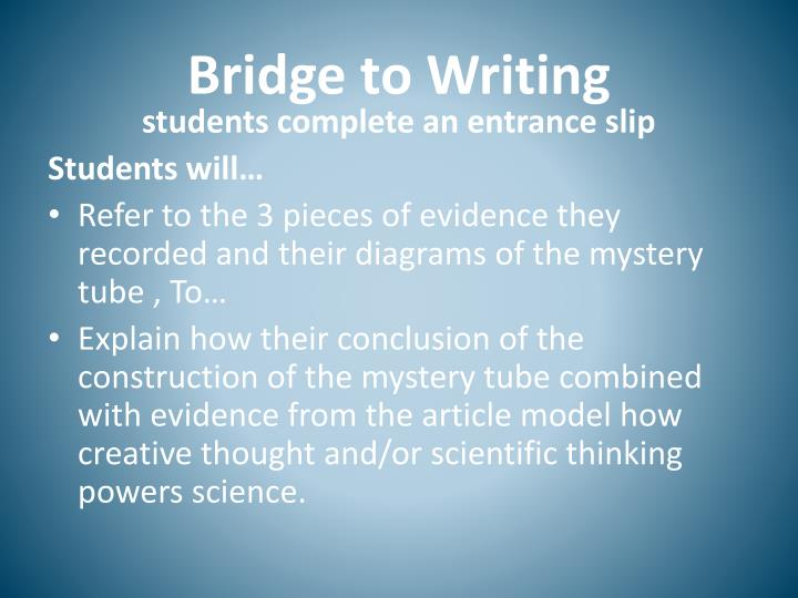 Bridge to Writing