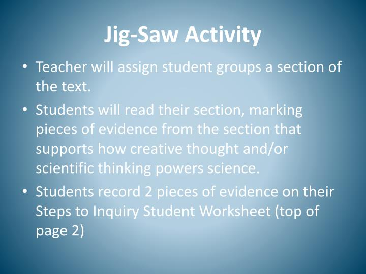 Jig-Saw Activity