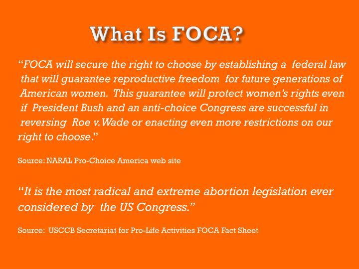 What Is FOCA?