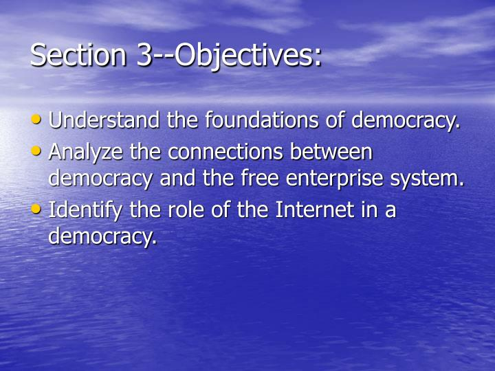 Section 3--Objectives:
