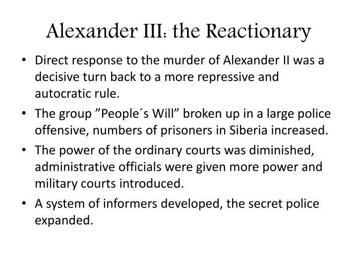 Alexander III: the