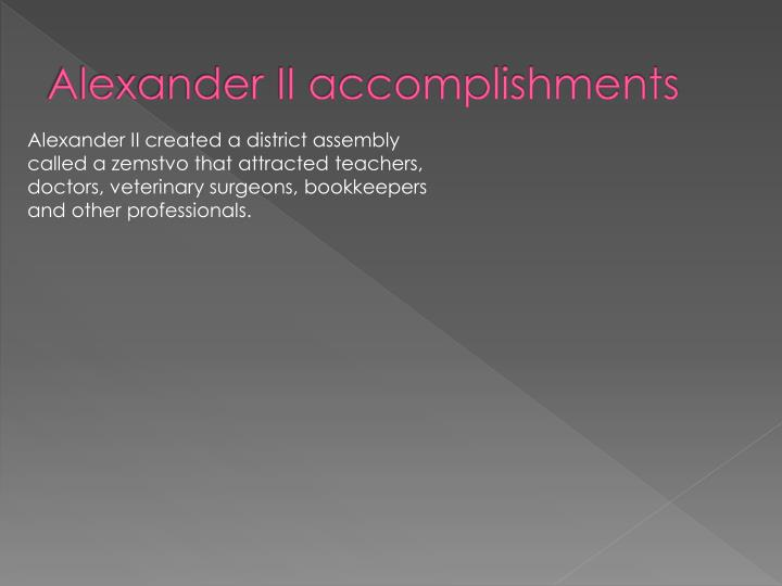 Alexander II accomplishments