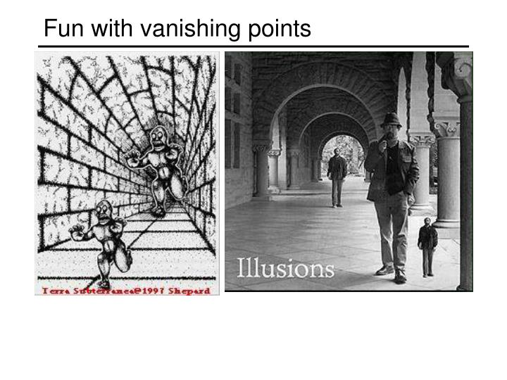 Fun with vanishing points