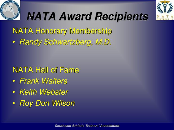 Nata award recipients1