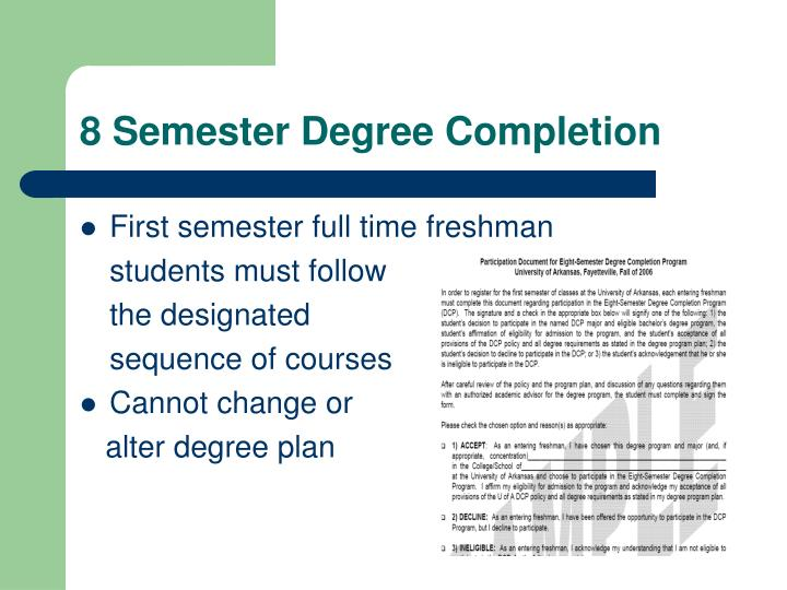8 Semester Degree Completion