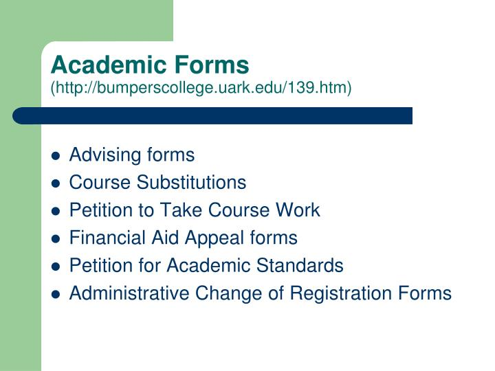 Academic Forms