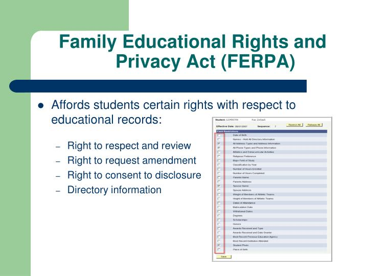 Family Educational Rights and