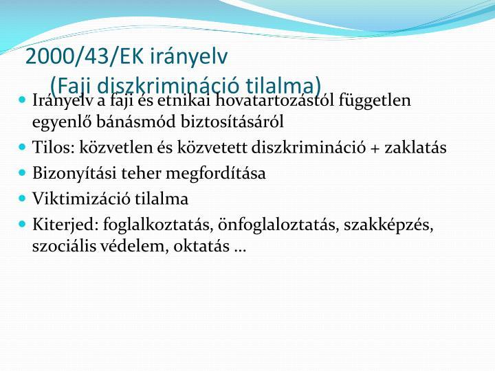 2000/43/EK irányelv