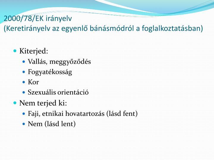 2000/78/EK irányelv