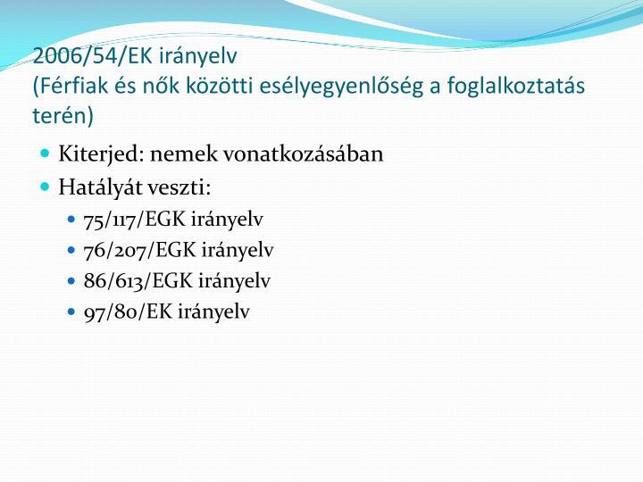 2006/54/EK irányelv
