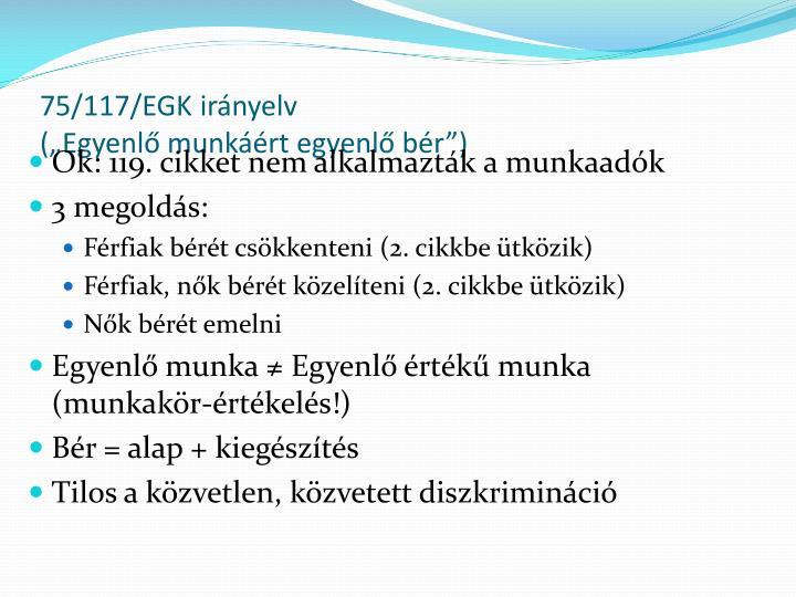 75/117/EGK irányelv