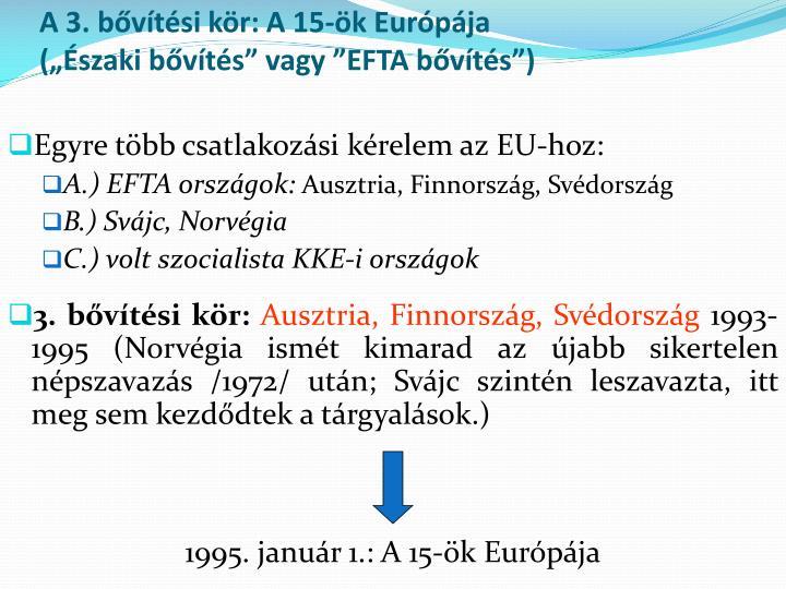 A 3. bővítési kör: A 15-ök Európája