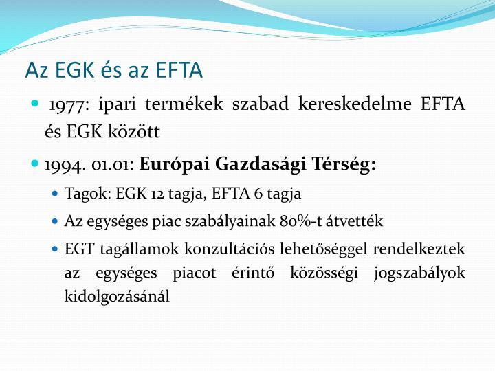 Az EGK és az EFTA