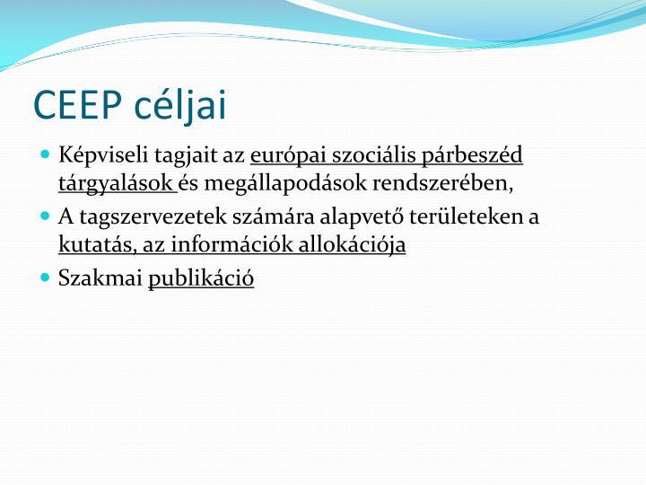 CEEP céljai