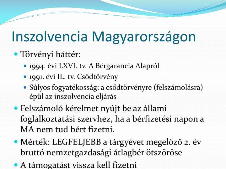 Inszolvencia Magyarországon