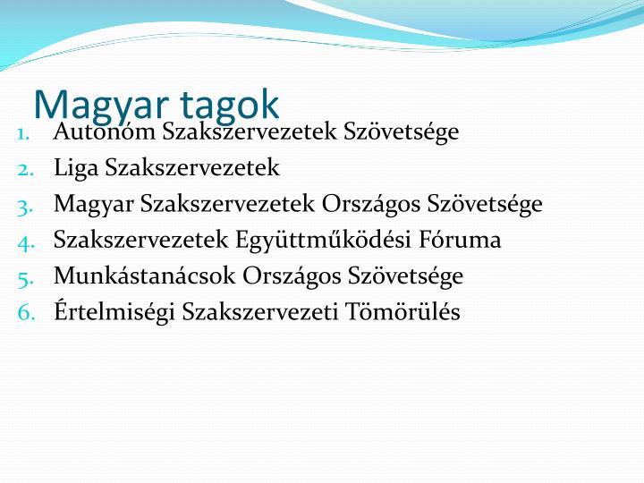 Magyar tagok