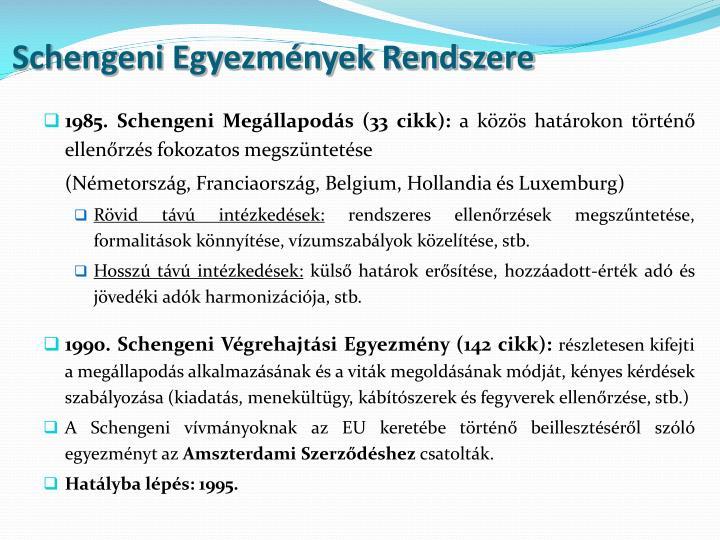 Schengeni Egyezmények Rendszere