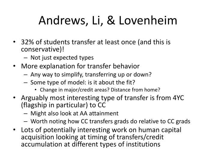 Andrews, Li, &