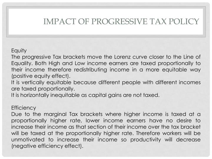 Impact of Progressive Tax policy