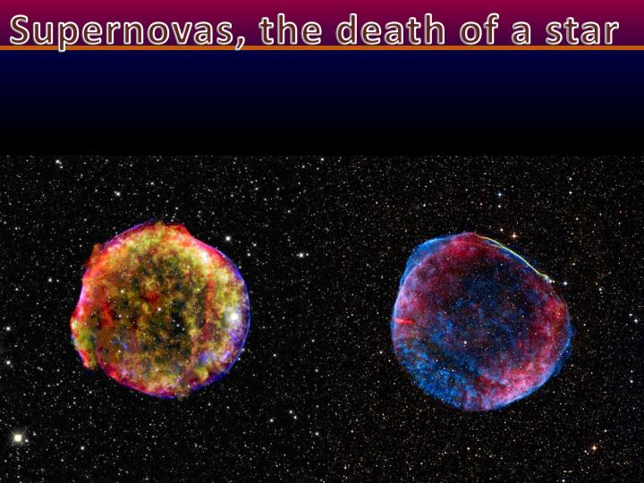Supernovas, the death of a star