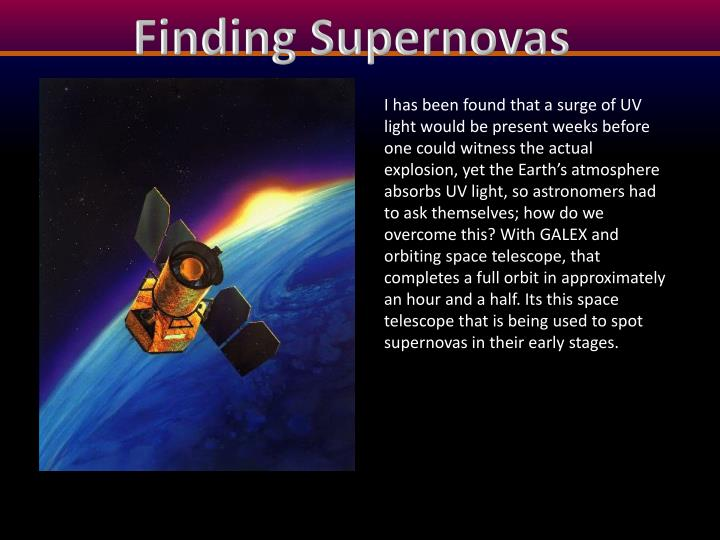 Finding Supernovas