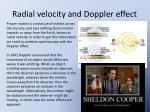 radial velocity and doppler effect