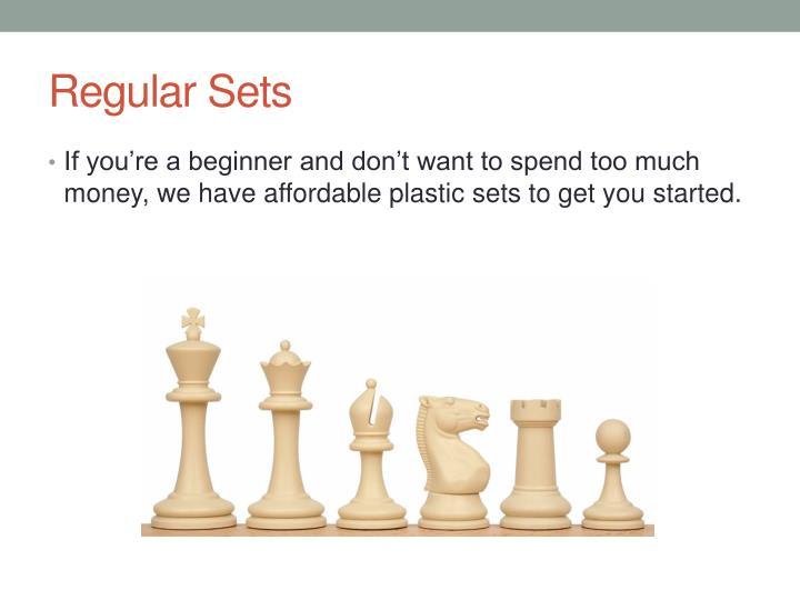 Regular Sets