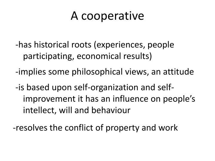 A cooperative