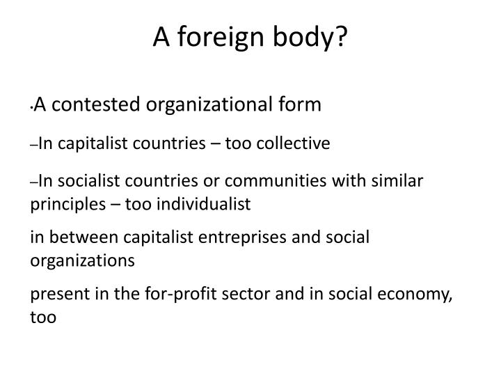 A foreign body?