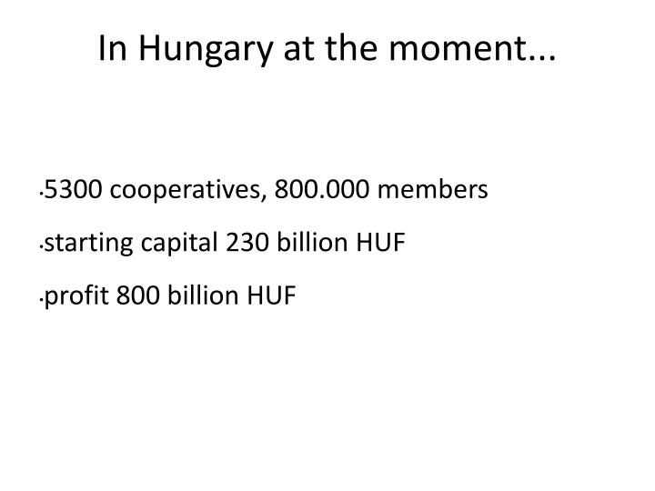 In Hungary at the moment...
