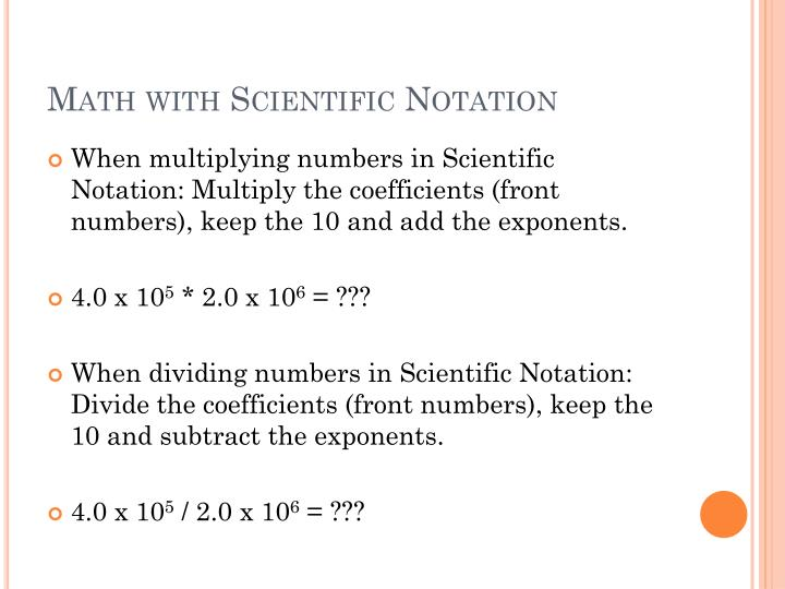 Math with Scientific Notation