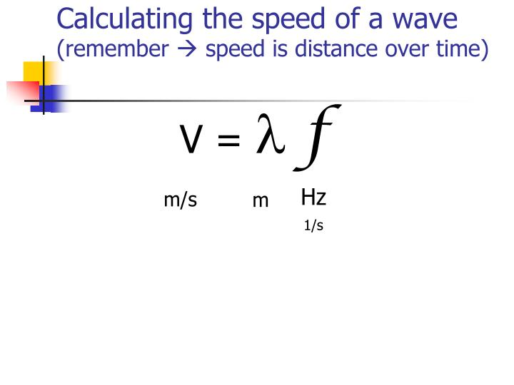 Calculating the speed of a wave
