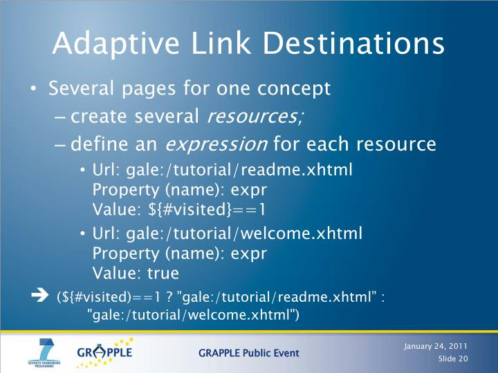 Adaptive Link Destinations