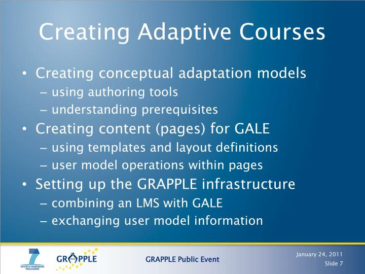 Creating Adaptive Courses