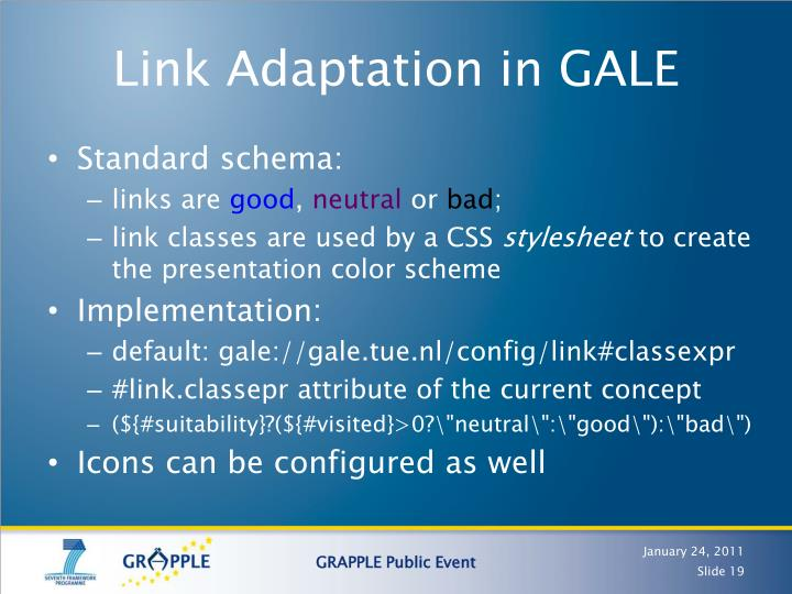Link Adaptation in GALE