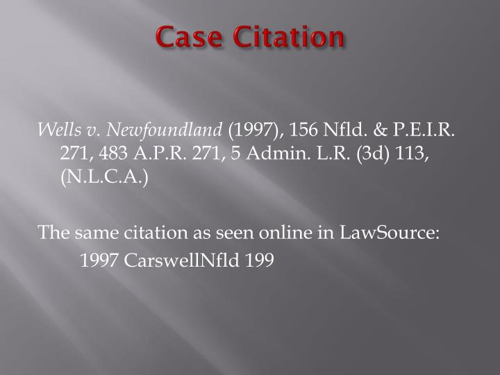 Case Citation