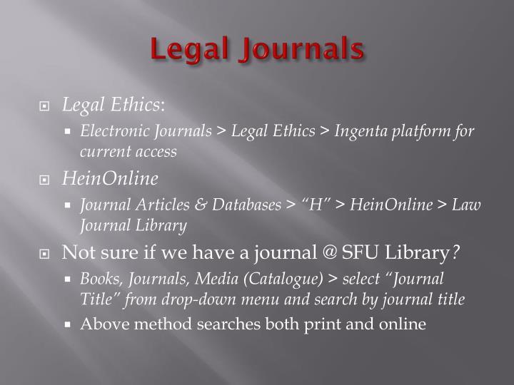 Legal Journals