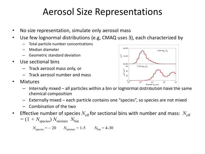 Aerosol Size Representations