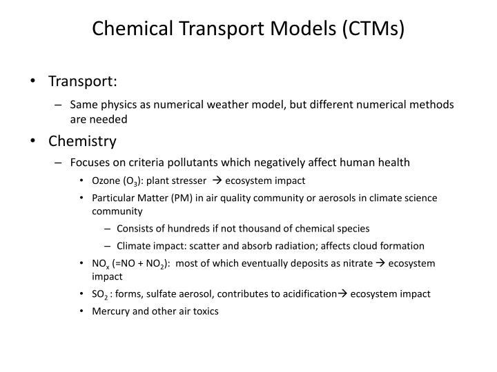 Chemical Transport